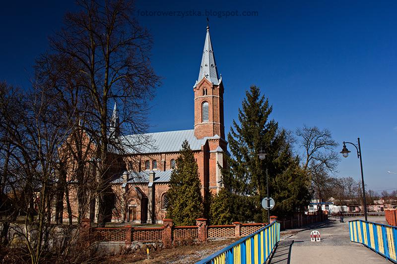 Kościół św Marcina , świętokrzyskie, rowerem
