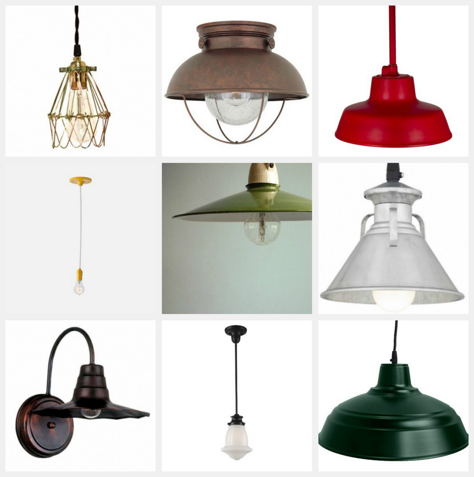 The Little Red Chair: 10 Fab Light Fixtures Under $100.00