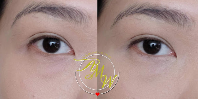 before and after photo of SilkyGirl Quick Fix Care Concealer Review