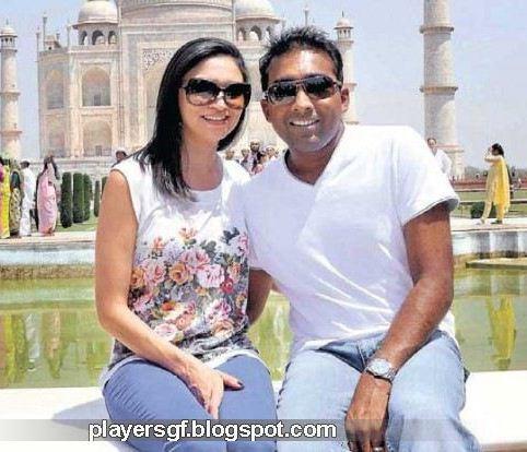 Mahela Jayawardene And His Wife Christina X