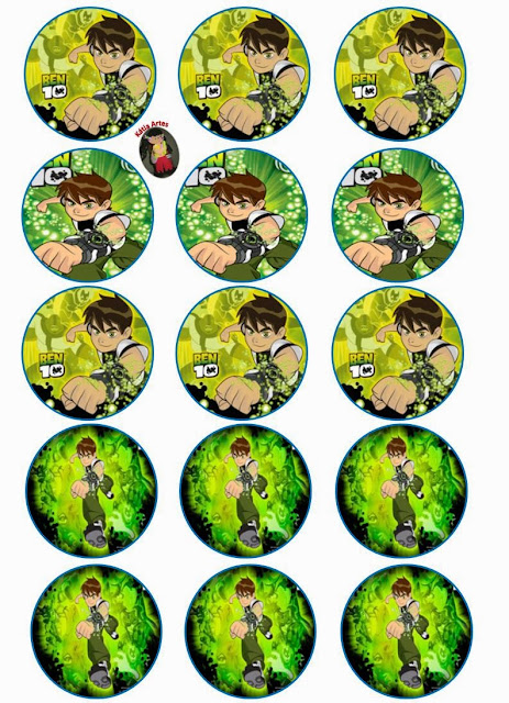 Ben 10 Toppers or Free Printables Labels.