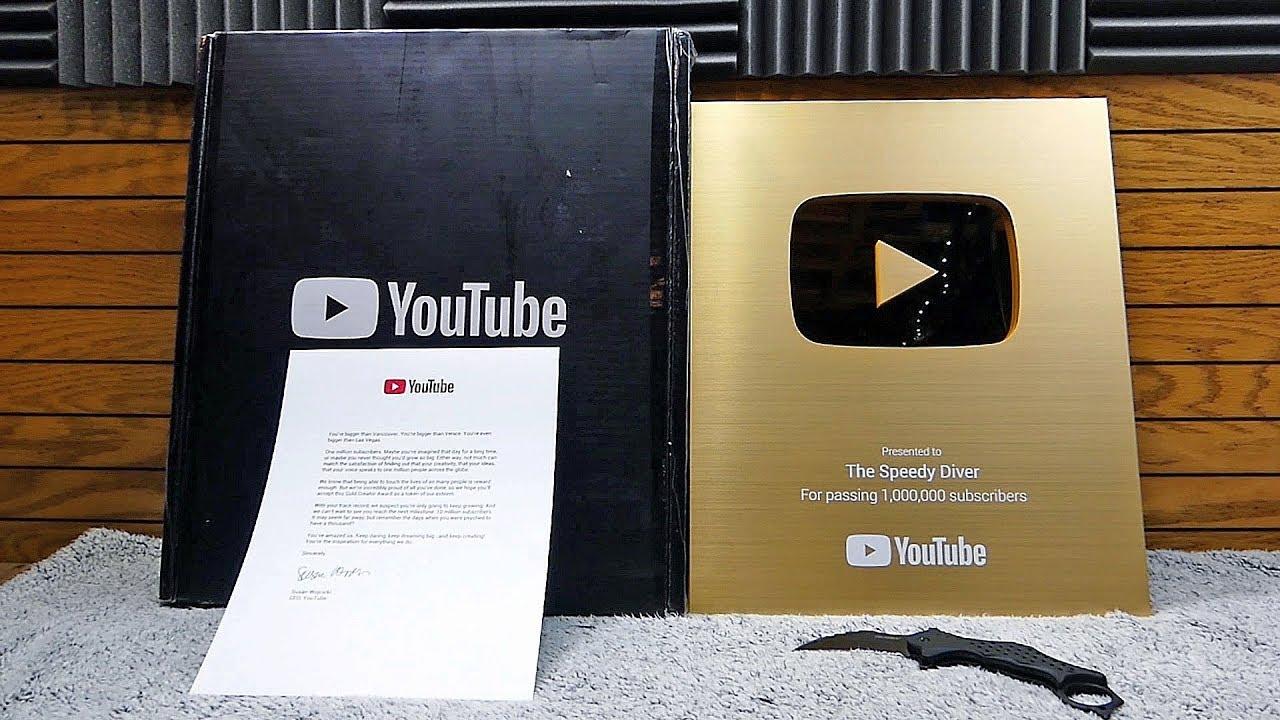 Nút vàng youtube được bao nhiêu tiền
