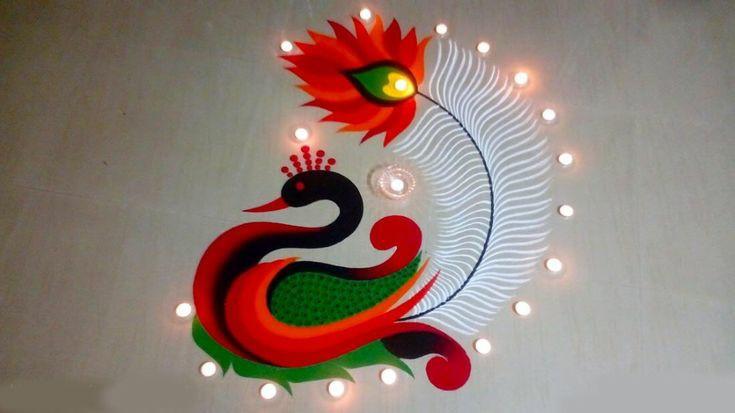 diwali rangoli designs 2021 image