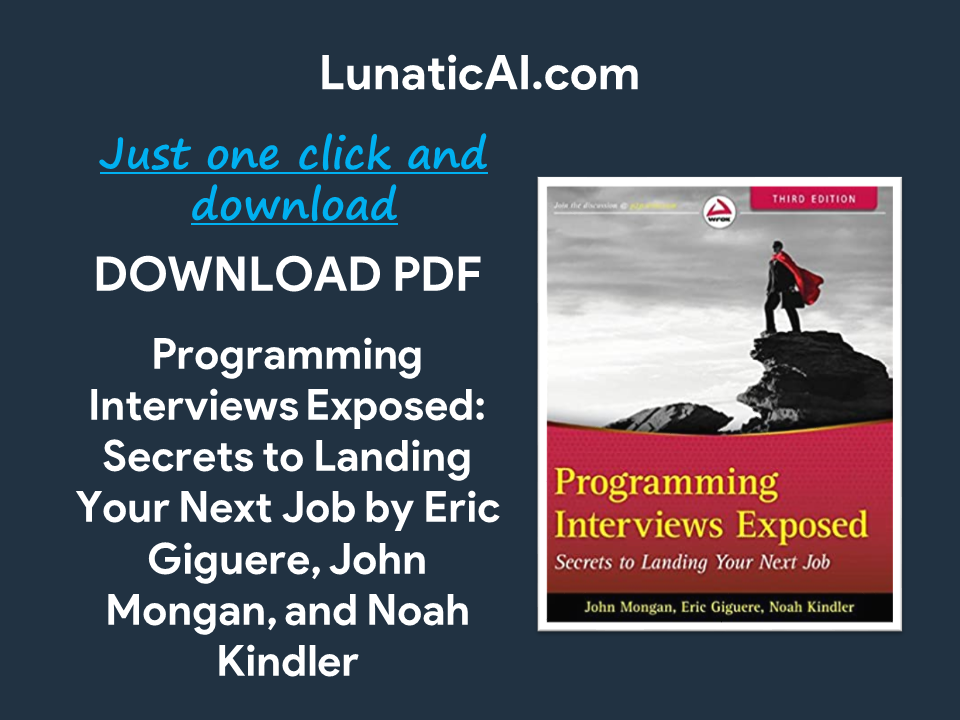 programming interviews exposed, 4th edition pdf github