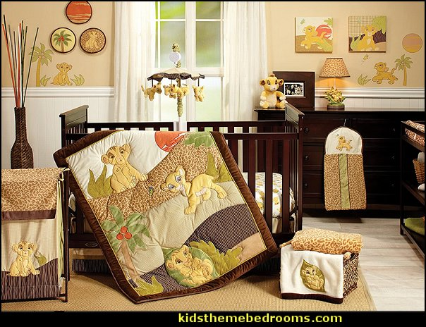 Disney Lion King Simba's Wild Adventure 7 Piece Nursery Crib Bedding