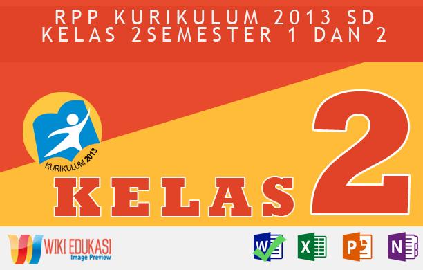 RPP KURIKULUM 2013 SD KELAS 2 SEMESTER 1 - Tugas Sehari-Hari