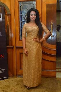 Malavika Menon cute pics in a Golden Anarkali Dress Spicy Young Beauty