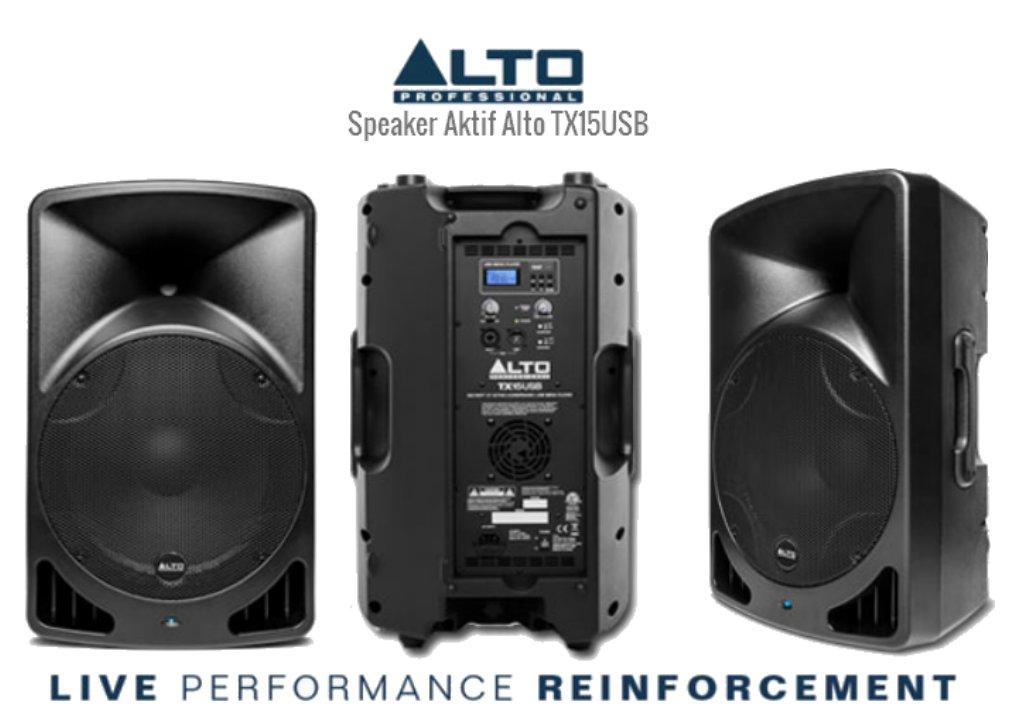 Harga Speaker Aktif 15 Inch Alto Usb Terbaru