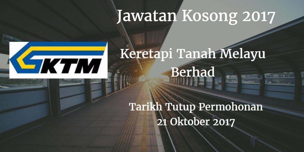 Jawatan Kosong KTMB 21 Oktober 2017