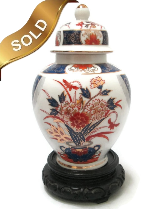 Ginger Jar Imari Porcelain 1950's Japan