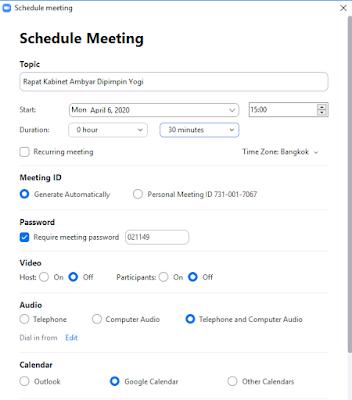 Cara Membuat Meeting Baru di Aplikasi Zoom Desktop