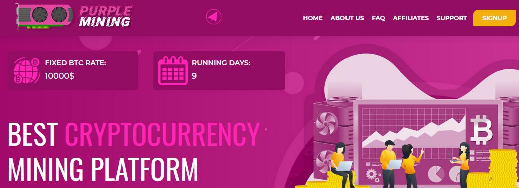 Мошеннический сайт purplemining.ltd – Отзывы, развод, платит или лохотрон? Информация