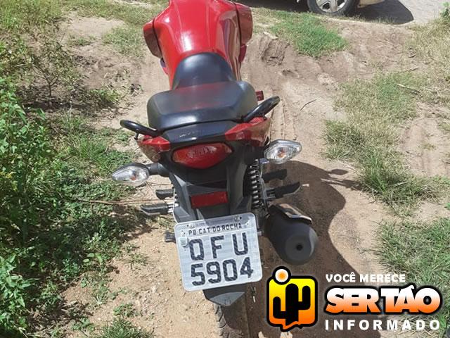 Moto roubada na cidade de Alexandria/RN é apreendida pela Polícia Militar na cidade Sousa