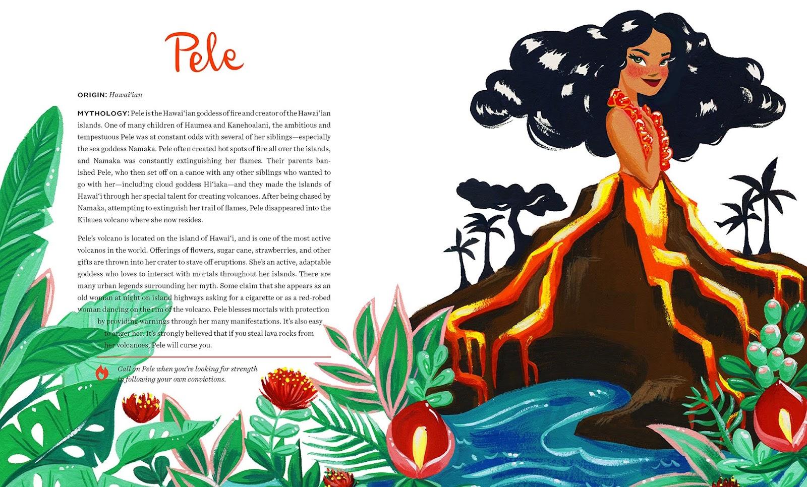 Deusa Pele, arte de Ann Shen