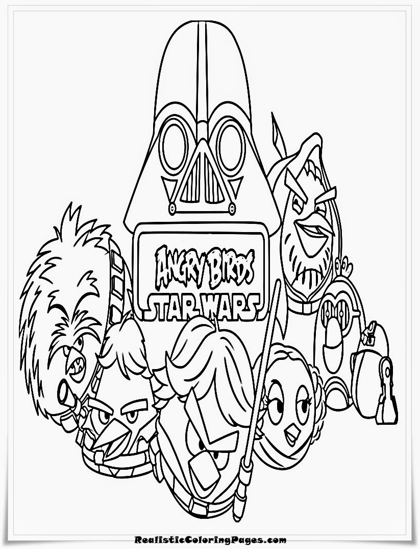 Angry Birds Star Wars All Characters Coloring Pages