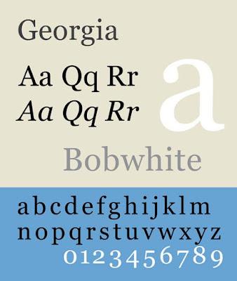 Georgia font for CV