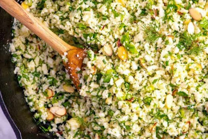 GARLIC HERB CAULIFLOWER RICE RECIPE