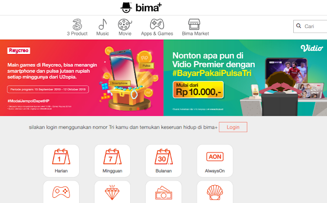 Cek Kuota Internet Tri via Website