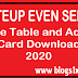 BTEUP Even Semester Time Table 2020 | Admit Card Download
