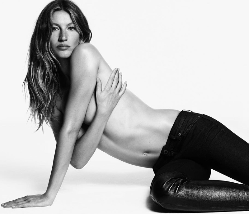 Gisele Bundchen poses in Givenchy Jeans 2016 campaign
