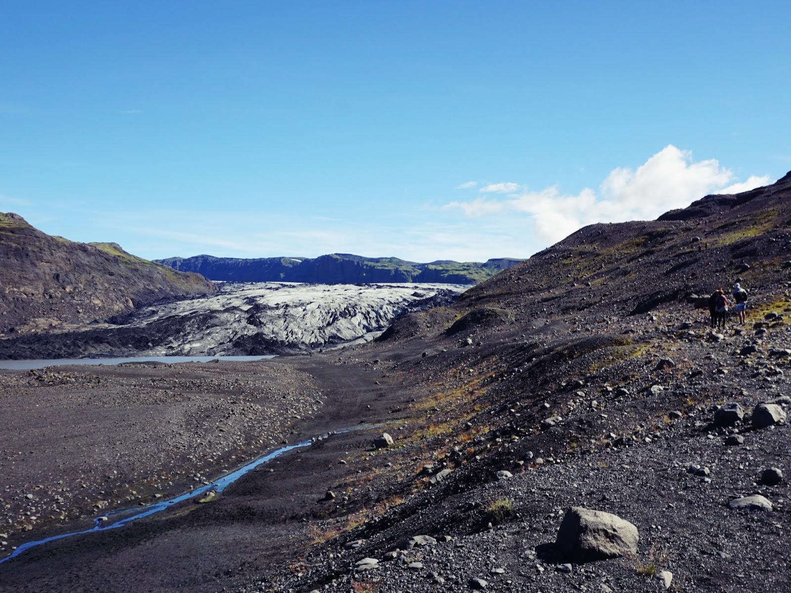 Lodowiec Solheimajokull, lodowiec, islandzki lodowiec, myrdalsjokull, islnandia, południowa islandia