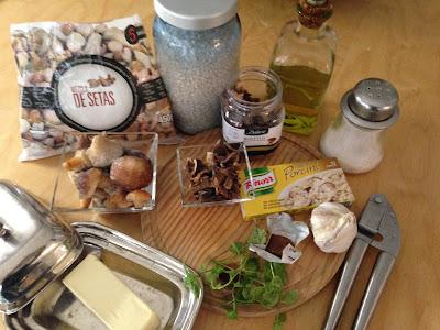 Risotto di Funghi Porcini, ingredientes