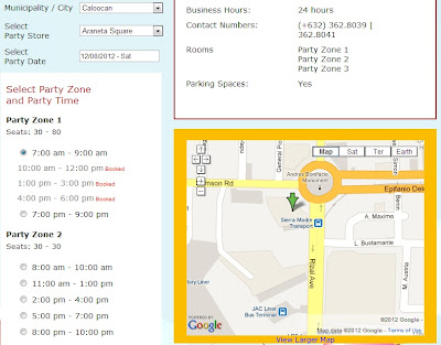 Jollibee's party store finder