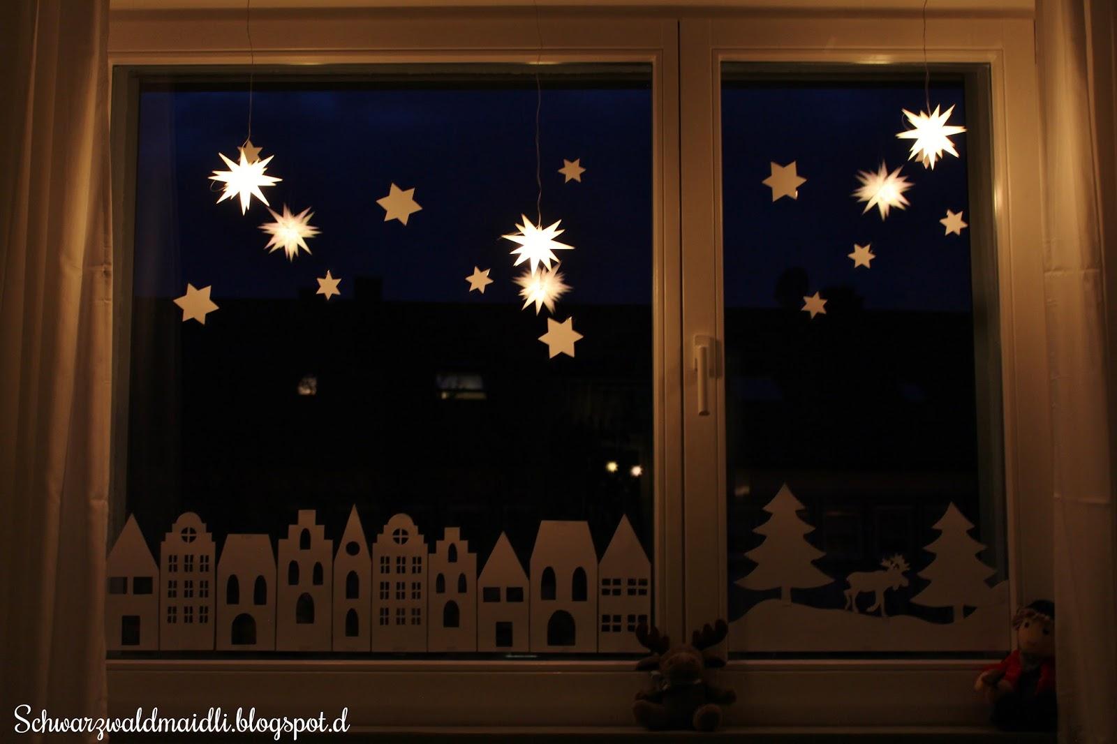 schwarzwaldmaidli xmas unser weihnachtsfenster der blog adventskalender. Black Bedroom Furniture Sets. Home Design Ideas