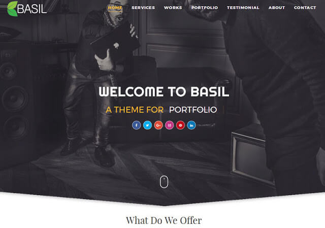 Basil Portfolio mobile friendly blogger template