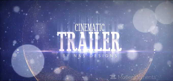 Cinematic Trailer : After Effects Template