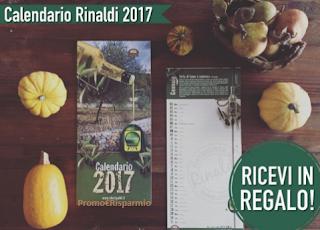 Logo Calendario omaggio da Olio Rinaldi