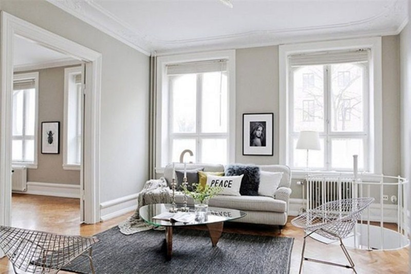 10 choice of light grey wall paint color for living room