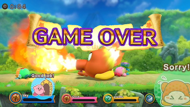 Super Kirby Clash good job sorry stickers game over sword hero
