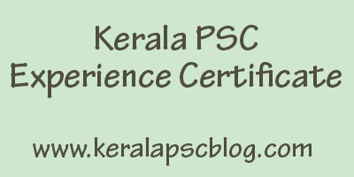 Experience Certificate Format in English and Malayalam