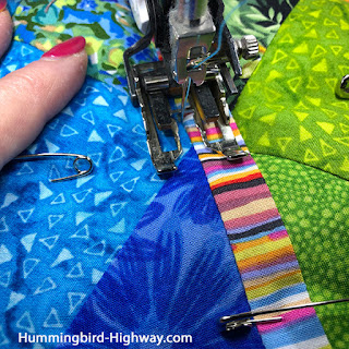 Straight line quilting with a walking foot