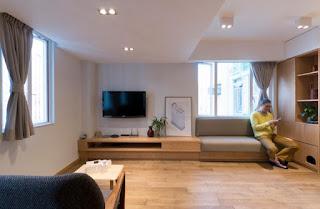 Thiết kế căn hộ 51m không gian phòng khách