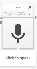 Live Voice typing by Google Docs