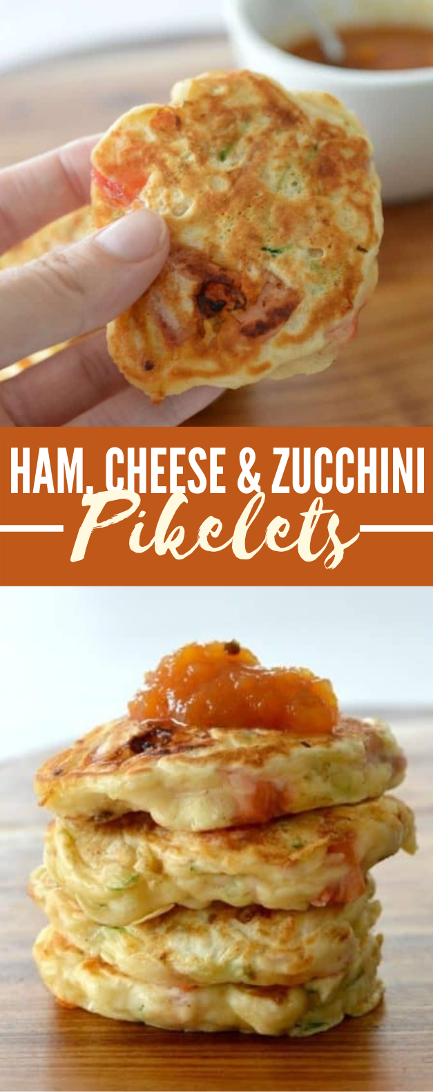 HAM, CHEESE AND ZUCCHINI PIKELETS #lunch #freezerfriendly  #meals #comfortfood #easyrecipe
