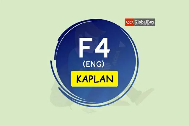 F4 (Eng) - KAPLAN Study Texts, Accaglobalbox, acca globalbox, acca global box, accajukebox, acca jukebox, acca juke box,