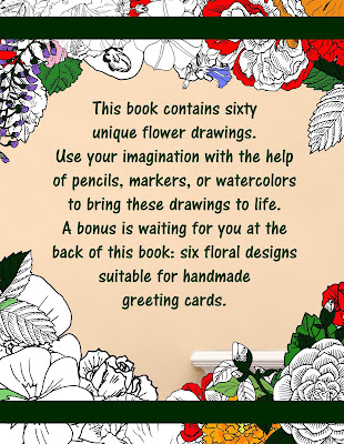 Back Cover of Botanical Drawing Coloring Book