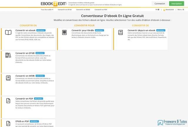 Ebook2Edit : un convertisseur et éditeur d'ebooks en ligne