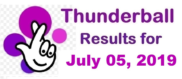 Thunderball results for Friday, July 05, 2019