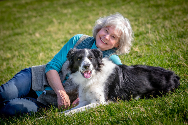 Dr. Patricia McConnell with her dog Skip. An interview about The Education of Will
