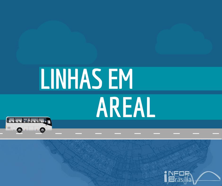 Horário de ônibus das linhas do Areal
