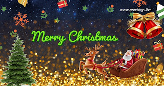 Santa claus coming merry Christmas gift free 2 images