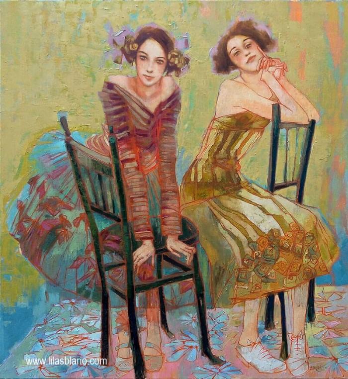Букет из женщин и цветов.