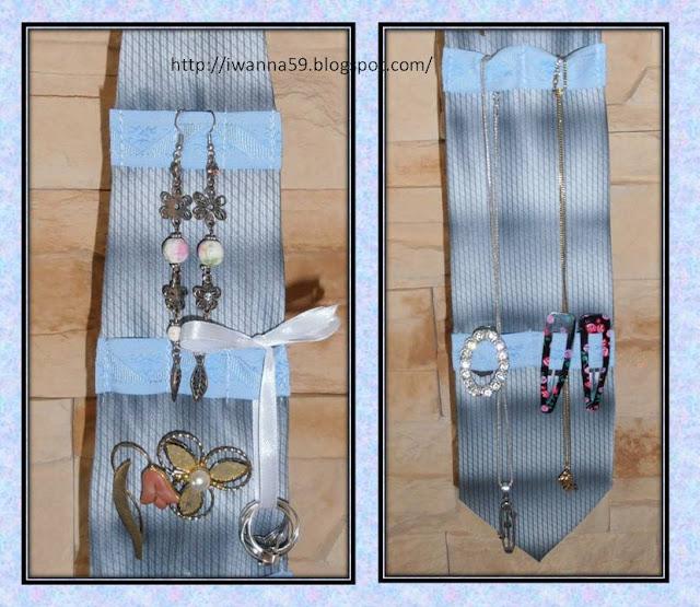 organizer z krawata na biżuterię