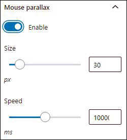 mouse parallax options