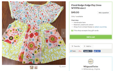whigs and tories, floral dress, playdress, play dress, ric rac, ricrac, ric-rac, size 2, made in virginia