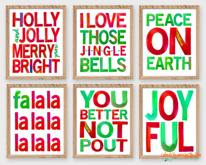 Colorful Christmas Printables